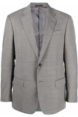 Armani Men Blazers - Fitted single-breasted blazer - Grey