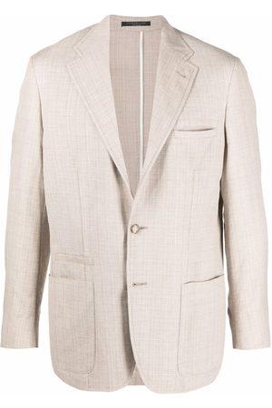 corneliani Men Blazers - Fitted single-breasted blazer - Neutrals