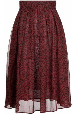 L'Autre Chose Women Printed Skirts - Leopard-print pleated skirt
