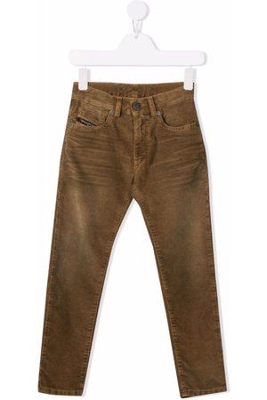 Diesel Boys Straight Leg Pants - Corduroy straight-leg trousers - Neutrals