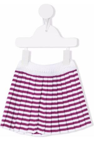 LITTLE BEAR Shorts - Striped-knit wool shorts