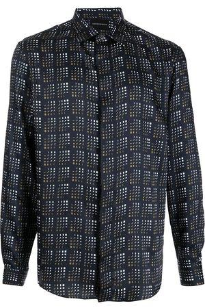 Emporio Armani Men Long sleeves - Abstract-check longsleeved shirt