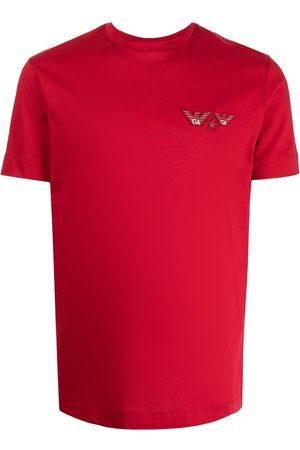 Emporio Armani Men Short Sleeve - Logo-patch short-sleeve T-shirt
