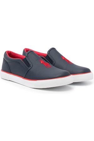 Polo Ralph Lauren Flat Shoes - Slip on logo sneakers
