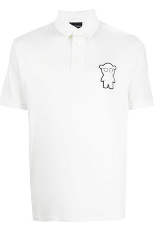 Emporio Armani Men Polo Shirts - Logo-bear patch polo shirt