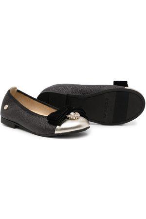ANDANINES Girls Ballerinas - Bow detail ballerina shoes