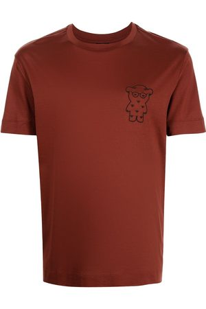 Emporio Armani Men T-shirts - Logo-bear patch T-shirt