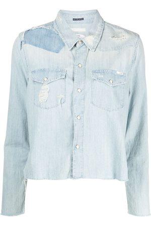 Mother Women Denim Jackets - Cropped denim shirt jacket
