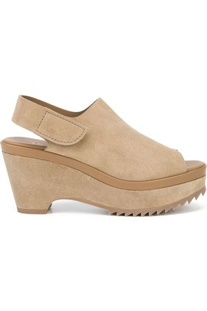 Pedro Garcia Women Wedges - Wedge slingback peep-toe sandals