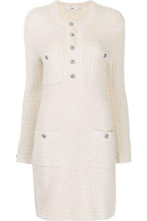 B+AB Women Dresses - Tweed longsleeved dress