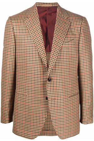 CARUSO Men Blazers - Plaid print blazer - Neutrals