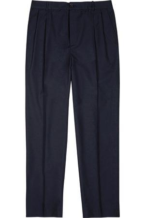 Kenzo Men Belts - Navy wool-blend trousers