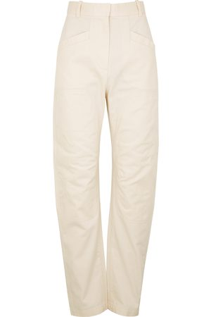 Oroton Women Belts - Off- cotton-twill trousers