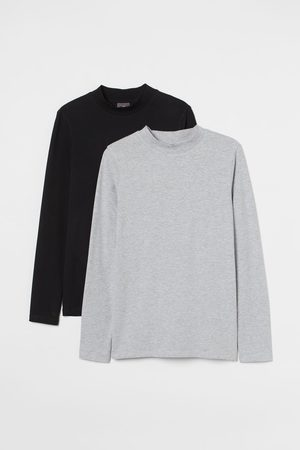 H&M Men Long sleeves - 2-pack Muscle Fit Jersey Shirts