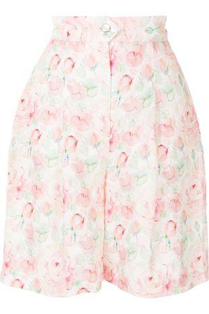 Liya Women Shorts - Floral print tailored shorts
