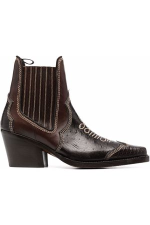 Dsquared2 Men Ankle Boots - Leather ankle cowboy boots