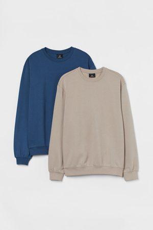 H&M Men Sweatshirts - 2-pack Relaxed Fit Sweatshirts