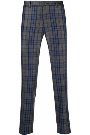 Incotex Tartan-check print tailored trousers