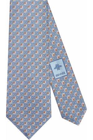 Gucci Men Bow Ties - GG flowers jacquard tie