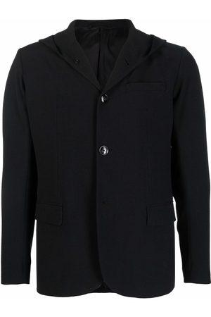 Emporio Armani Men Blazers - Hooded single-breasted blazer