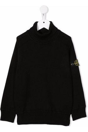 Stone Island Boys Turtlenecks - Logo roll-neck jumper