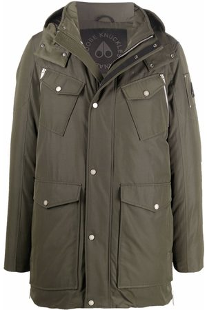 Moose Knuckles Men Puffer Jackets - Hooded feather-down padded coat