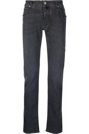 Jacob Cohen Men Slim - Pocket square slim-fit jeans - Grey