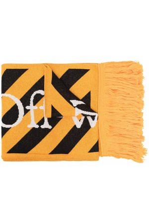 OFF-WHITE Men Scarves - Logo-intarsia scarf