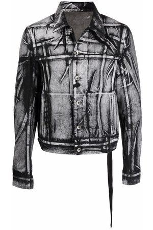 Rick Owens Men Denim Jackets - Light-wash denim jacket
