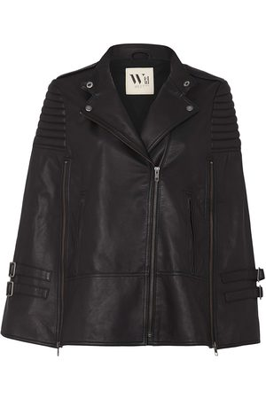 Women Leather Jackets - Women's Low-Impact Black Leather Crosby Cape Small West 14th