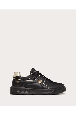 VALENTINO GARAVANI Men Sneakers - One Stud Low-top Sneaker In Nappa Leather Man /platinum 100% Lambskin 40