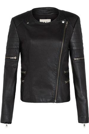 Women's Low-Impact Black Leather Greenwich Street Motor Jacket Medium West 14th