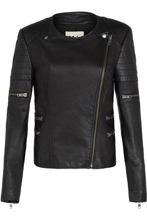 Women's Low-Impact Black Leather Greenwich Street Motor Jacket Small West 14th