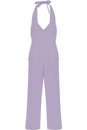 Women Jumpsuits - Women's Artisanal Pink/Purple Viscose Jumpsuit With Zip Opening Small kith & kin