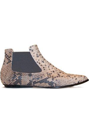 Women's Natural Leather Niki Sand Python Print Shoes 5 UK EIJK