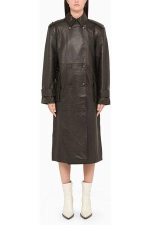 REMAIN Birger Christensen Long leather coat