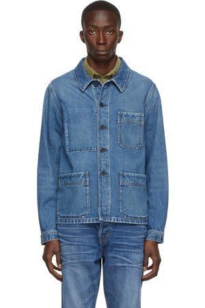 Tom Ford Men Denim Jackets - Blue Denim Workwear Jacket