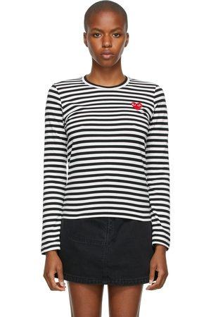 Comme des Garçons Women Long Sleeve - Striped Long Sleeve T-Shirt