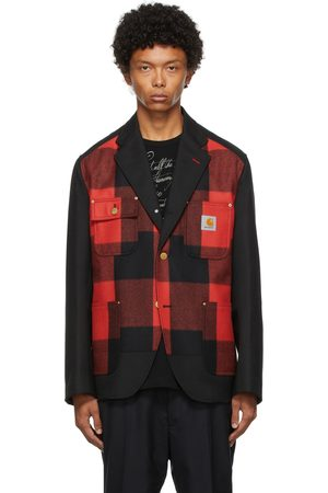 JUNYA WATANABE Black & Red Carhartt Edition Plaid Flannel Blazer