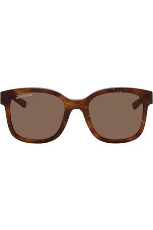 Balenciaga Men Square - Square Logo Pattern Sunglasses