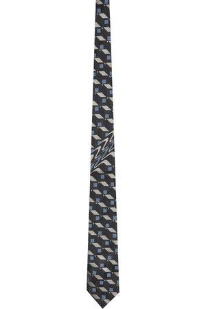 DRIES VAN NOTEN Silk Graphic Tie