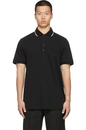 Burberry Men Polo Shirts - Flocked B Logo Polo