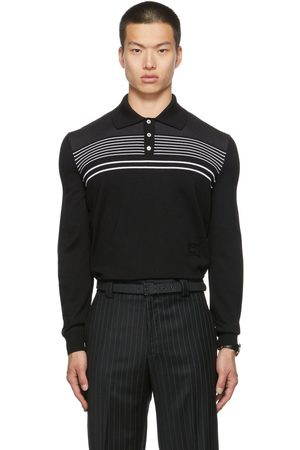 Commission Men Polo Shirts - SSENSE Exclusive Merino Wool Dad Long Sleeve Polo