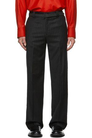 Commission Men Formal Pants - SSENSE Exclusive Pinstripe Carpenter Tailored Trousers