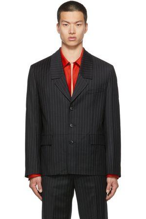 Commission Men Blazers - SSENSE Exclusive Pinstripe Dropped Collar Blazer