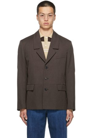 Commission Men Blazers - SSENSE Exclusive Wool Dropped Collar Blazer