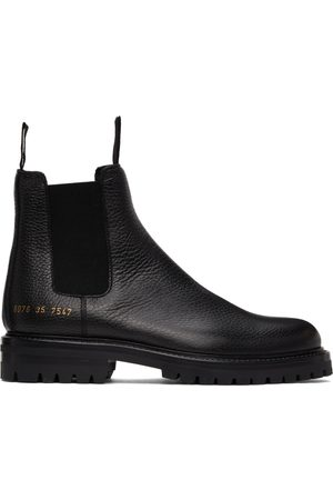 COMMON PROJECTS Women Snow Boots - Black Winter Chelsea Boots