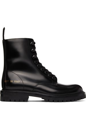COMMON PROJECTS Women Boots - Black Combat Boots
