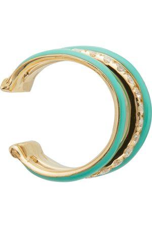 YVONNE LÉON Women Earrings - Gold & Blue 3 Wire Ear Cuff