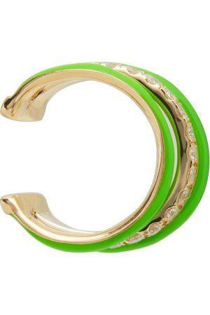 YVONNE LÉON Women Earrings - Gold & Green 3 Wire Ear Cuff